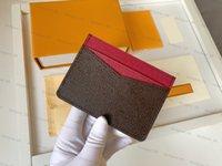 Top Quality Genuine Leather Tither Luxury Designer Bolsa de Moda Moda Homens Homens Bolsas G Mens Chave Chaveiro Cartão de Crédito Moeda Mini Carteira Saco Charme Brown Canvas Original