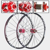 عجلات الدراجة mtb الجبل الأمامي 2 الخلفي 5 مختومة الكربون محامل الألياف طبل محور 26er 27.5er 29er قرص الفرامل دراجة عجلة 7/11 سرعة
