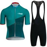 Cinelli 2019 Cyclisme Ensembles Racing Vêtements Été Quick Dry Vélo Vélo Jersey Ensemble Set court Manchon Professional Hommes Sportwear X0503