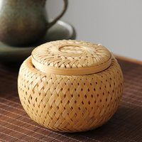 Storage Bottles & Jars Steam Pot Tea Gift Natural Bamboo Vegetable Snack Basket 6 Oz 7*10 Kitchen Spice Jar Tank Mini Packing Box