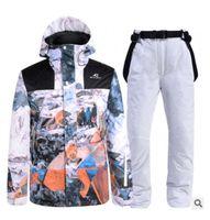 Kayak Takım Elbise Kayak Ceketler Kış Ceket Snowboard Giyim Su Geçirmez Rüzgar Geçirmez Spor Giyim Pantolon Seti Sıcak Tutun # 01