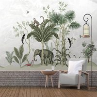 Wallpapers Po Wallpaper Chinese-Style Ink Landscape Pine Murals Wall Cloth Living Room TV Backdrop Covering Waterproof Fresco