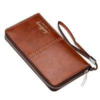 Wallets Wallet Zipper Money Clip Clutch Bag Men's Purses PU Leather Men Man Long Male Purse WBL26
