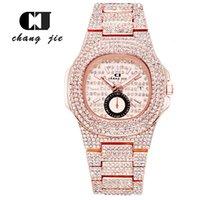 CJ высококачественная мода календарь моды алмаз мужские часы браслет звездочный ринг роскошный