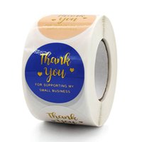 500pcs 1.5inch Thank You Business Adhesive Stickers Labels Baking Bag Party Package Envelope Decoration