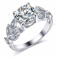 Classic Engagement Cluster Rings for Women men AAA White Cubic Zircon Female Rhinestone Wedding Band CZ Ring Jewelry