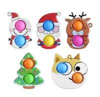 55% de rabais sur Noël Fidget Toys Push antistress Dessin animé Toy Party Cadeaux Simple Dimple Soft Soft Scper Squeting Squeting Wholesale Youpin