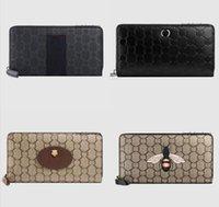 Hohe Qualität Herren Iconic Mode Lange Brieftasche Münze Geldbörse Karten Fall Halter Braun Wasserdichte Canvas 451277