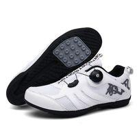 الصيف تنفس غير قفل شبكة تريكوت الدراجات أحذية الرجال الرياضة الطريق دراجة النساء دراجة أحذية رياضية مسطحة المطاط الأحذية