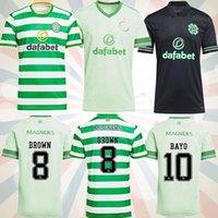 2021 سلتيك كرة القدم جيرسي الرئيسية الأخضر # 22 إدوارد 20/21 بعيدا كرة القدم القمصان # 19 Johnston # 9 Griffiths الرجال الثالث مخصص زي كرة القدم