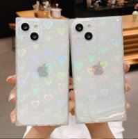 Square Love Ring Buckle Glitter Clear Phone Cases for iphone 13 Pro Max 12 11
