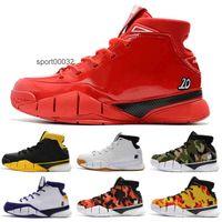 Mamba 1 Protro ZK1 Zapatos para niños, Hombres Camo Negro Verde Top Qaulitys One 1s Deportes Deportes Zapatillas de deporte