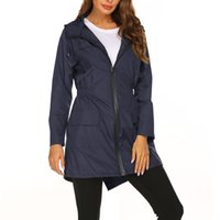 Women's Trench Coats Lightweight Raincoat For Women Windproof Waterproof Jacket Hooded Outdoor Hiking Long Rain Jackets
