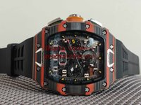 good Mens Luxury Racing carbon fibre Wristwatch Sport Moveme...