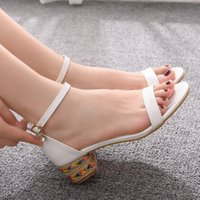 Sandals Crystal queen will see gladiator sandals woman high heels open wedges alpercate shoes ladies buckle platform bombs GQJG