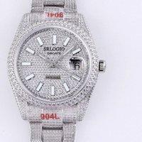 Voller Diamant Herrenuhr Automatische mechanische Uhren 40,6 mm Diamanten Lünette wasserdichte Saphhire Armbanduhren diamantmutiges Stahlarmband Montre de luxe
