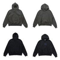 ESS MENS Dames Hoodies Zwart Grijze Diamanten Hip Hop FG Streetwear Pullover Sweatshirts Warm Mist Essentials Sport Mannen Vrouwen Hooded Katoen Materiaal Losse Hoodie
