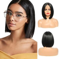 Synthetic Wigs Sylhair 9'' Ombre Lace Front Straight Bob Hair Blonde Cosplay Heat Resistant Adjustable Cap Highli