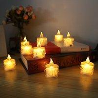 Yenilik Alevsiz LED Çay Işık Mum Işıkları Sıcak Beyaz Sarı Pil Kumandası Düğün Doğum Günü Partisi Mağazası Restoran için Titreşen Tealight
