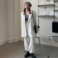 Women's Jackets Spring 2021 Korean Fashion Loose And Versatile Casual Small Suit Medium Length Long Sleeve Cardigan For Women