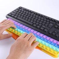 Klavye Silikon İtme Kabarcık Fidget Oyuncaklar Müzik Ses Parmak El Destek Deratizasyon Pioneer Oyun Tahtası Çocuklar Yetişkinler için HWF8956