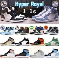 Hiper Kraliyet 1 1 S Basketbol Ayakkabıları Erkekler Sprots Eğitmenler Üniversitesi Mavi UNC Büküm SP Top 3 Şanslı Yeşil Gölge Gümüş Toe Chicago Yüksek Erkek Sneakers