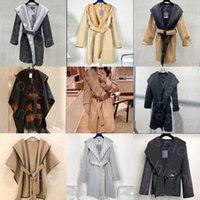Новый дизайнер женские оконные пальто модные верхние одежды буквы с капюшоном пояс с капюшоном