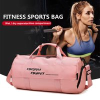 Outdoor Bags Sports Bag Pink Gym Independent Shoe Compartment For Fitness Training Backpack Yoga Dance Single Shoulder Travel