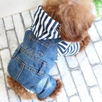 Dog Apparel Pet Cloth Four Legs Jeans Spring Summer Fashiong Denim Overalls Jumpsuit For Puppy Leisure Fashion Supplies 2021