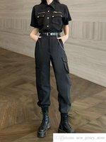 Personalizado próprio marca legal menina desgaste lindo esportes terno mulher homem solto camisa de mangas curtas de manga alta alta cintura torrada torres workwear de duas peças terno homem mulheres