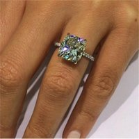 Cushion cut 1ct Lab Diamond Ring 925 sterling silver Engagement Wedding band Rings for Women Anniversary Jewelry Mother's Gift