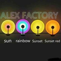 Sunset light Novelty Items fashion design home decoration rainbow projection sun never setting-light net red live broadcast atmosphere photography background