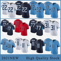 22 Derrick Henry Men Football Jerseys 11 AJ Brown 17 Ryan Tannehill 31 Kevin 바이드 고품질 스티치