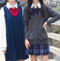 Бантики галстуки JK Unifore Японский чистый цвет твердой школы моряка