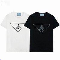 2021 camiseta para hombre T-shirt 3d letra impresión más reciente bordado manga corta verano top de moda casual tees mujeres ropa pareja vestido marca ropa