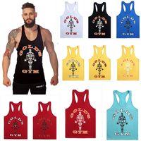 DIRUIJIE 1400 # 12Colour M-XXL Coton Men T-shirts Golds Gym Muscle Joe Stringer Tapot Tapot Hommes Vest Bodybuilding Crossfit Singulet