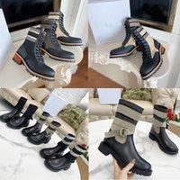 2021 Nuevos zapatos famosos de alta calidad zapatos de diseñador Botas de camping de moda Botas cortas de moda para mujer de cuero de invierno de piel baja zapatos de mujer corbata original Tamaño original 35-41