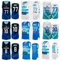 2021 Tokyo Olimpiyatlar Slovenya Basketbol Forması Luka Doncic 77 30 Goran Dragic 10 Mike Tobey 31 Vlatko Cancar 11 Jaka Blazic 8 Edo Muric 6 Aleksej Nikolic Erkekler Kadınlar Çocuklar