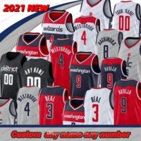 Мужские пользовательские баскетбольные Джерси Брэдли Бил # 3 Рассел Уэстбрук 4 Руи Hachimura 8 Джерси Робин Лопес 42 Дени Авдия 9 Кассиус Уинстон 5 CIT