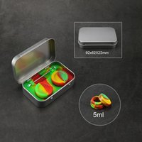 Silicone Wax Container Carving Wax Tools Tin Box Kit 4 in 1 Tin Silicone Storage Set with 2pcs 5ml Oil Jar