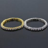 European and American hot-selling new jewelry hip hop single row diamond bracelet bracelet mens fashion jewelry factory wholesale