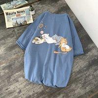 Primavera y verano moda camiseta marea marca salvaje personalidad ocio animal impresión impresión de manga corta tendencia suelta para hombre ropa