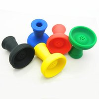 FDA Silicone Shisha Hookah Bowl Head E-sigaretta Accessori per sigarette Tinfoil Ciotole Sostituzione Specificazione generale Multicolore Set di fumo 5 colori