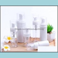 Favor Event Festive Party Supplies Home & Garden30Ml 60Ml Plastic Clear White Foam Pump Soap Mousses Liquid Dispenser Foaming Bottle Dhd236