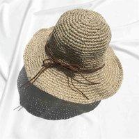 Summer Beach Flat shading Ago Bow Sun Protection Dome Cappello di modo di svago della Corea del Sud paglia delle donne