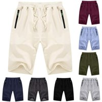Men's Shorts Men Pockets Fashion Casual Sport Bandage Summer Short Pants Solid Activewear De Bain Homme