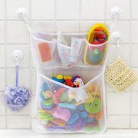 Party Favor 100% Brand Bathtub Suction Fashion Kids Bath Portable Toys Organizer Holder 1 Pcs Baby Bathroom Storage Bag Mesh Net