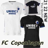 Copenhagen Futebol Jerseys 2021 2022 Home Branco Away Black Wind Singh Stage Lerager Camisa De Futebol Khocolava Wilczek Zeca Maillots De Foot Uniformes