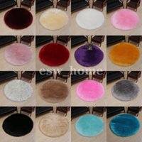 Round Soft Rugs for Bedroom Living Room Floor Shaggy Plush Carpet solid color Home Mat