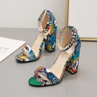 Women Shoes High Heels 2021 Color Serpentine Design Pumps Fe...
